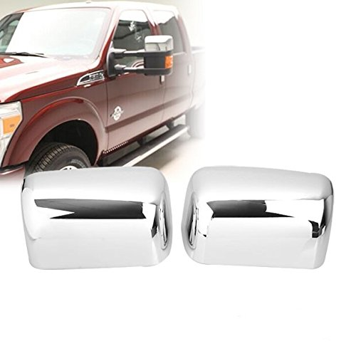 Chrome Side Door Half Top Mirror Cover For Ford F250 F350 F450 F550 Super Duty