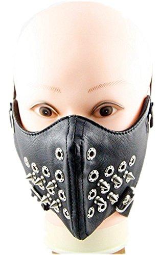 Qiu ping Men's and women's new rivet rock mask personality motorcycle mask by Qiu ping