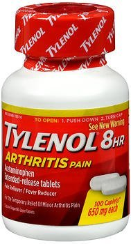 Tylenol 8 HR Arthritis Pain Caplets, 650mg - 100 ct, Pack of 4 by Tylenol