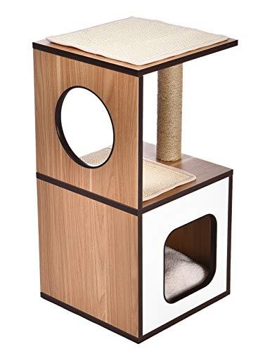 AmazonBasics Wooden Cat Furniture, Single Post