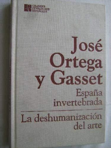 La España Invertida. La Deshumanización Del Arte: Amazon.es ...