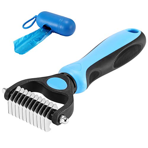 KAYI Dematting Brush Undercoat Rake for Dogs & Cats Professional Grooming Tool -...