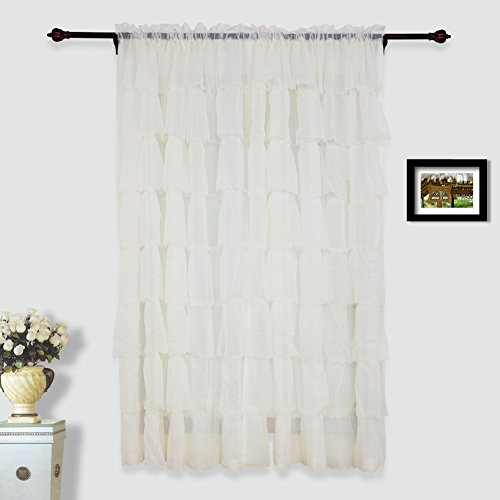 Top Ruffled Curtain 54 inch 108 inch
