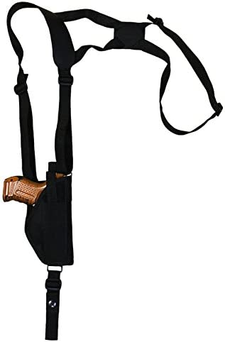 Barsony New Vertical Shoulder Holster for Compact Sub-Compact 9mm 40 45