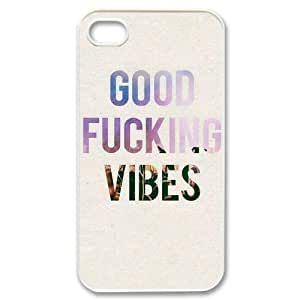 Personalized New Print Case for Iphone 4,4S, Good Vibes Phone Case - HL-504681