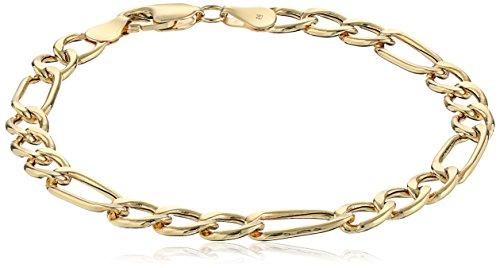 - Men's 14k Yellow Gold Italian Figaro Link Bracelet, 8