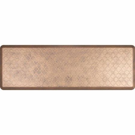 WellnessMats Estates Collection Essential Series Antique Gold Trellis 6 x 2 Foot Anti-Fatigue Mat by WellnessMats