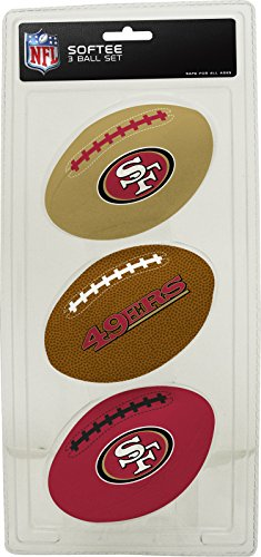 San Nfl Fan Francisco 49ers (Rawlings NFL San Francisco 49ers Kids Softee Football (Set of 3), Small, Red)