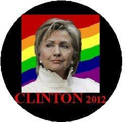 HILLARY CLINTON RAINBOW 2012 Political Pinback Button 1.25