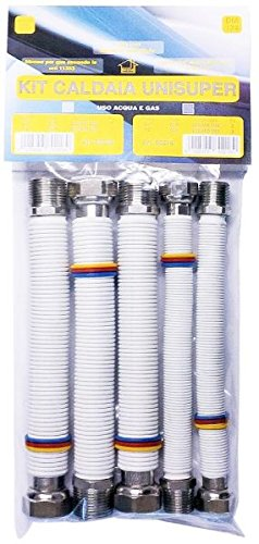 Mega Promo Kit Caldera tubo Gas Agua Flexible N 2 de 1/2 ""