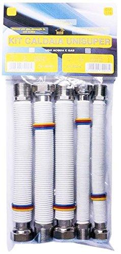 Mega Promo Kit Caldera tubo Gas Agua Flexible N 2 de 1/2 &quot