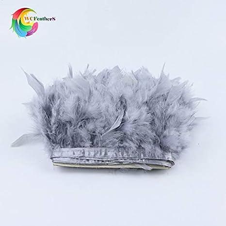 Maslin Marabou - Falda con flecos de plumas (15,2-20,3 cm), color ...