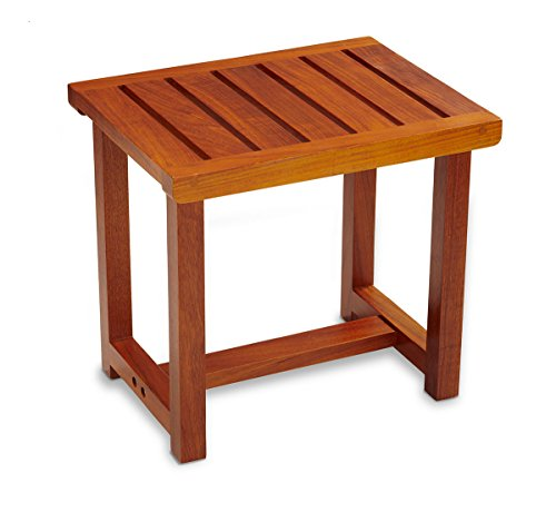 - Conair Home Solid Teak Spa Bench; Modern Look