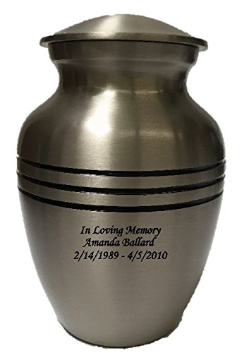 (NWA Custom Pewter Cremation Urn, Small Size Urn with Personalisation)