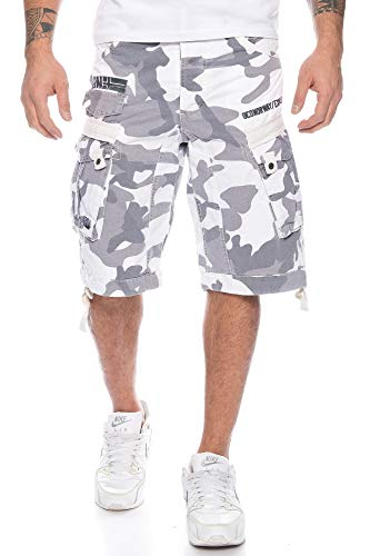 People Norway Camouflage Cargo Hommes Blanc Geographical Shorts 6Hfx7qUZw