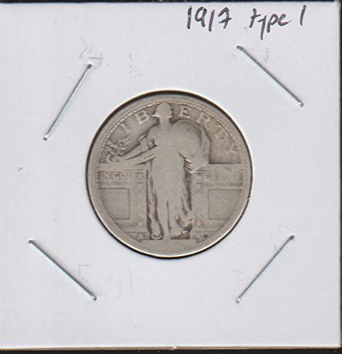 1917 Standing Liberty (1916-1930) Type 1 Quarter About Good