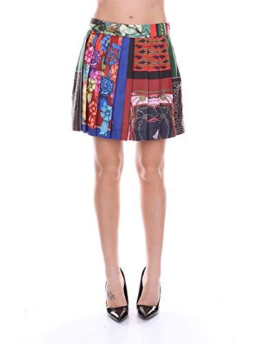 Boutique Moschino Women's A03105850multi Multicolor Viscose Skirt