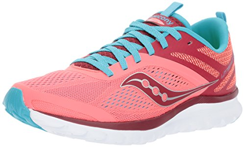 Saucony Women's Miles Sneaker,Coral Blue,7 Medium US