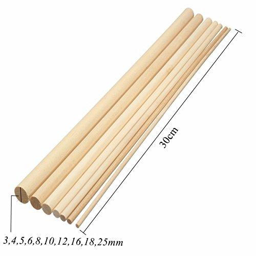 10x Wooden Sticks Dowels Poles Rods Sweet Tree Wood Stick for DIY Craft 20cm