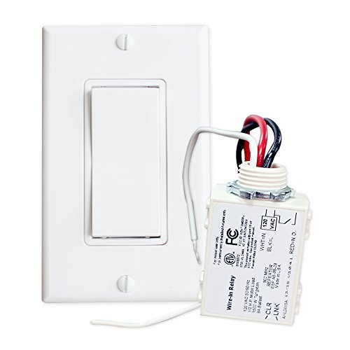 UPC 731236549185, RunLessWire Simple Wireless Switch Kit: Move or add a light switch in any location! Use this Self-Powered Rocker Switch with Controlling Receiver for lights, LED, ceiling fans, fixtures, and other electronics. Switch comes in White.