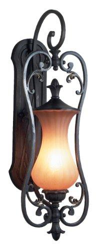 Eurofase 17507-011 Corsica 1-Light Medium Wall Sconce, Aged Iron/Amber