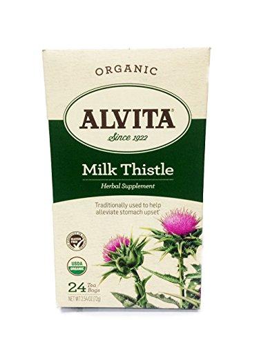 (Alvita Tea Bags, Milk Thistle, 24 tea bags (Pack of 3) )