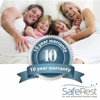 SafeRest Premium Hypoallergenic Waterproof Certified Bed Bug Proof Crib Mattress Encasement - Vinyl, PVC and Phthalate Free - (52'' x 28 x 6 in.) by SafeRest (Image #4)
