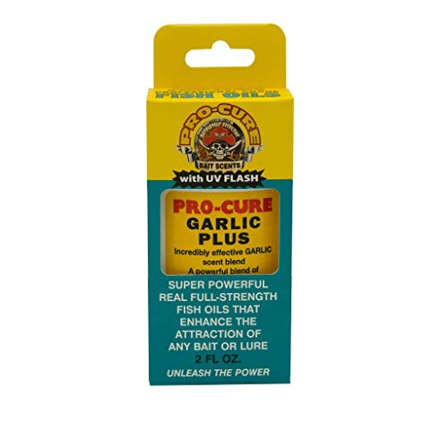 Pro-Cure Garlic Plus Bait Oil, 2 Ounce (Fish Attractant Garlic)