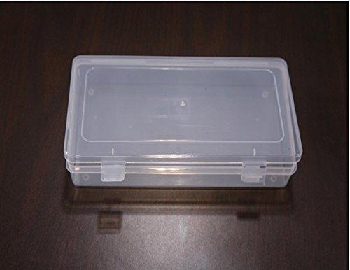 Vas Clear 9 Polypropylene Small Plastic Storage Box Hinged Lid