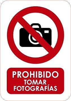 Material PVC Resistente 3mm de Grosor Oedim Se/ñaletica de Prohibido Tomar fotograf/ías 15x21cm