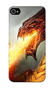 High-quality Durable Protection Case For Iphone 5/5s(fantasy Art Drogon Fire Flames Wings ) For New Year's Day's Gift