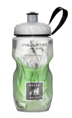 Polar Bottle Insulated Water Bottle (Green Fade) (12 oz) - 100% BPA-Free Water Bottle - Perfect Cycling or Sports Water Bottle - Dishwasher & Freezer Safe Bottle Lunch Box