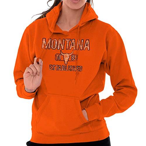 - Montana Rodeo Vintage Workout MT Americana Hoodie Orange