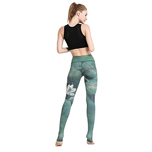 Witkey Women Printed Extra Long Yoga Leggings High Waist