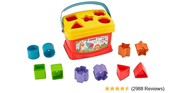 Amazon Fisher Price Brilliant Basics Babys First Blocks Toys Games