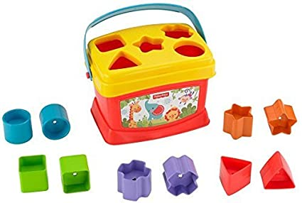 Fisher Price Bloques infantiles con cubo transportable Mattel K