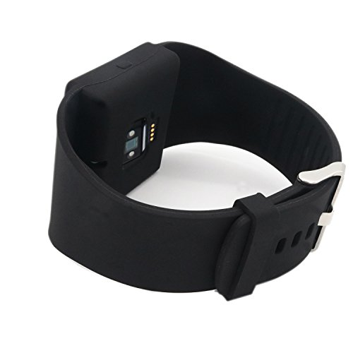 Fitbit Blaze Accessoires band, Replacement Sport Strap Band Cover, with full cover to the edge Black