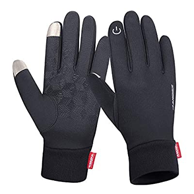 Anqier Winter Warm Gloves Windproof Touch Screen Running Cycling Climbing Skiing Gloves Cold Weather Gloves for Men Women