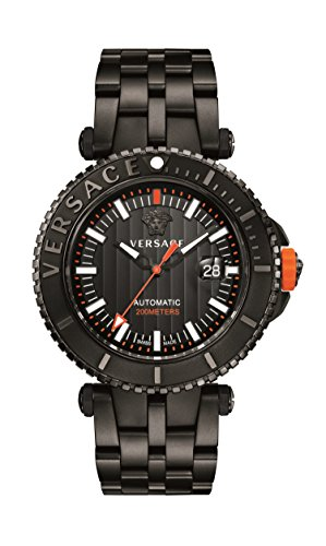 Versace Men's'V-Race' Automatic Stainless Steel Casual Watch, Color:Black (Model: VAL010016)