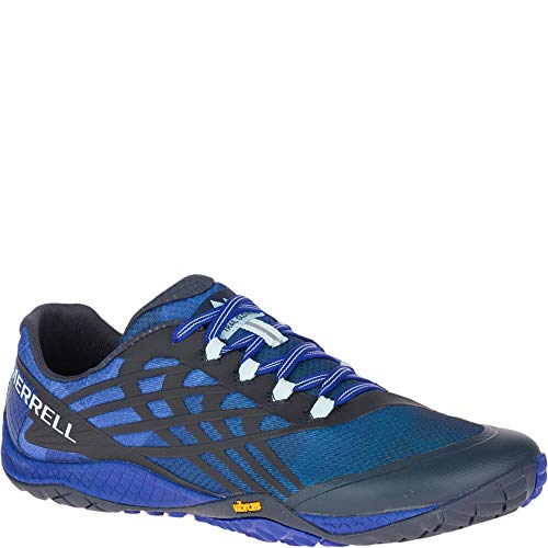 Merrell Mens Trail Glove 4 Mesh Synthetic Blue Sport Trainers 9.5 US