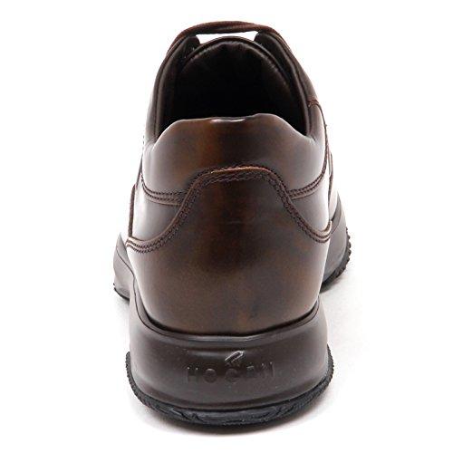 Hogan E4398 Sneaker Uomo Brown Interactive Scarpe H Rilievo Shoe Man Marrone