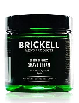 Brickell Men's Smooth Brushless Shave Cream for Men - Natural & Organic (Unscented, 2 Ounce) Brickell Men's Products