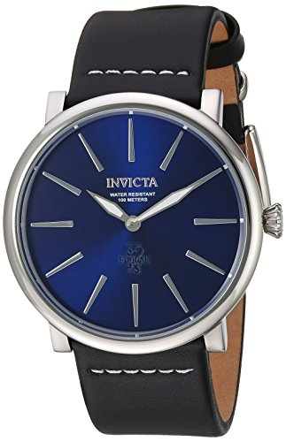 Invicta Men's 'I-Force' Quartz Stainless Steel and Leather Casual Watch, Color:Black (Model: 22931)