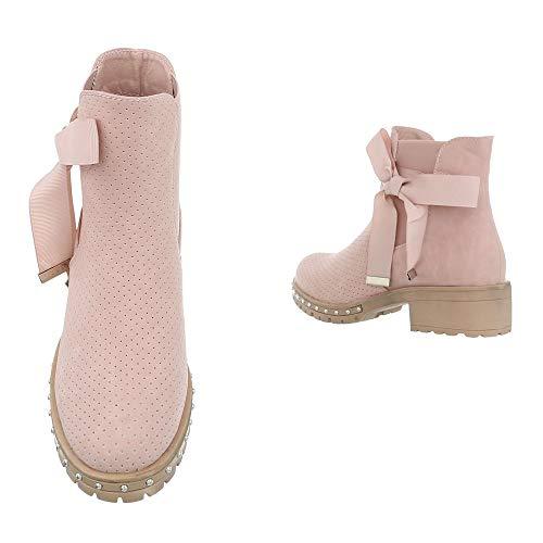 Femme design Chelsea Boots Hellrosa Ital 32a Dr11798 qSvA46