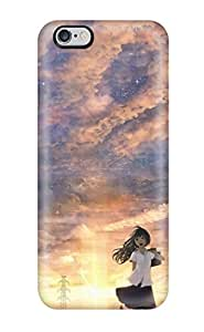 Best 8466316K474935273 stockingss nekomimi meganekko purple petals Anime Pop Culture Hard Plastic iPhone 6 Plus cases