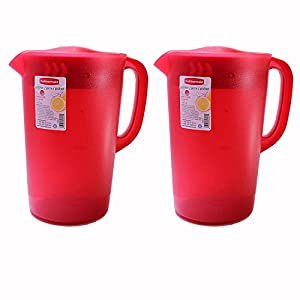 Rubbermaid 1 Gallon Classic Pitcher, Red, Pack of 2 Pitchers