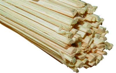 Half Round Reed 1/8'' Wide (6 feet - Average Length Per Strand) - Wicker Furniture Repair Supplies, Chair/Basket Weaving Tools, Hardware for Furniture Restoration, Chair Cane R-7232