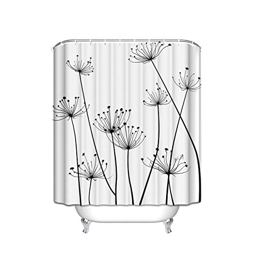 - Crystal Emotion Thistle Design Fabric Shower Curtain 36x72inch