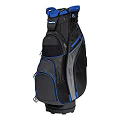 The Chiller cart bag is a cooler way to carry a six pack with a removable insulated cooler bag. Nine total pockets provide ample storage including two large apparel pockets, an oversized ball pocket, three quick-access mesh pockets and a flee...