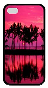 iphone 4s case,iphone 4 4s covers ,TPU black case for Apple iphone 4 4s--sunrise and sunset 54